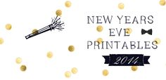 Free printables New Years Eve >> Cupcake toppers - wrappers - Party hats - mini banners and more !!! Gratis printables voor Oud & Nieuw !!!