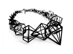 """Stereodiamond"" necklace, 3D printed jewelry designed by Geraldesign"