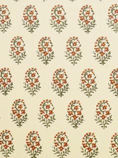 DecoratorsBest - Detail1 - CL HB401-5 - Fleur De Kashmir - Rust Fern Gold - Fabrics - DecoratorsBest