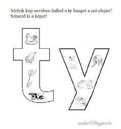 Játékos tanulás és kreativitás: Kisbetűkben képek a hangfelismerés gyakorlásához 2. Diy And Crafts, Symbols, Letters, Teaching, Montessori, Valentino, Letter, Education, Lettering
