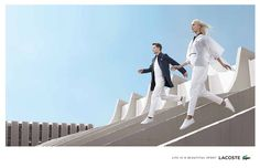 Aymeline Valade, George Barnett @dnamodels by Jacob Sutton @J_Sutton_Studio for Lacoste @LACOSTE Spring 2016 #composition #motion #light
