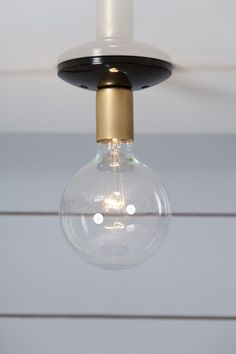 Brass - Steel Ceiling Mount Light   Industrial Light Electric, Industrial Modern Lighting, Vintage Industrial Style Lights with a Modern Design