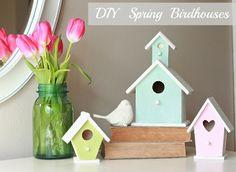 DIY Spring Birdhouse tutorial