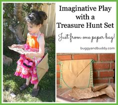 Make a Treasure Hunt Kit from Just One Paper Bag from Buggy and Buddy