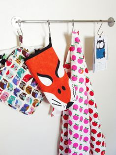 My Kitchen, and yes I like colors, foxes, owls and different fabrics