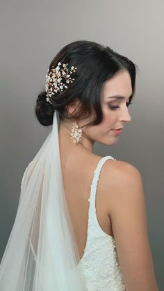 Whimsical Classic Delicate Fairytale Chic Bridal Hairpins - VIOLETTE HAIRPINS BY HERMIONE HARBUTT Whimsical Classic Delicate Fairytale Chic Bridal Hairpins Dainty mother of pearl flowers nestled within delicate branches of Swarovski crystals and pearl. Bridal Hair Flowers, Bridal Hair Vine, Flower Headpiece, Bridal Updo, Wedding Flowers, Wedding Hair Inspiration, Wedding Hair And Makeup, Hair Wedding, Wedding Hairstyles Veil