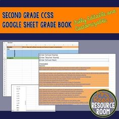 Have you been looking for the perfect grade book to support your standards based grading? The Second Grade CCSS Google Sheets Grade Book is the one for you! With the capability to have an unlimited number of students and an unlimited Organized Teacher, Teacher Organization, Standards Based Grading, Perfect Grade, Resource Room, Second Grade, Are You The One, Two By Two, Core
