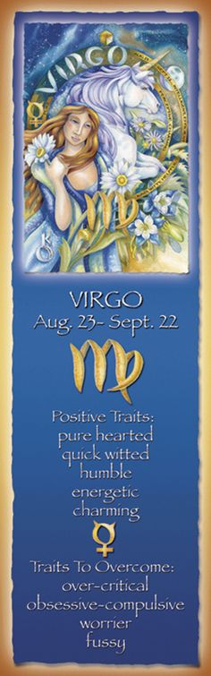 Bergsma Gallery Press :: Products :: Bookmarks :: Zodiac :: Zodiac Series / Virgo - Bookmark