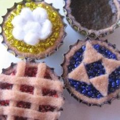 Bottlecap Pies - Girl Scout SWAPS Ideas