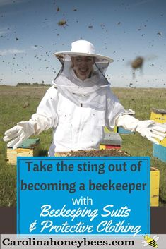 What kind of protective wear do you need for beekeeping? Do you need a beekeeping suit. Maybe a beekeepers hat and veil will do? Learn more Carolina Honeybees