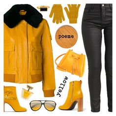 Yellow poeme by amisha73 on Polyvore featuring moda, Victoria, Victoria Beckham, rag & bone, Forever 21, Christian Roth, John Lewis, Frontgate, PopsOfYellow and NYFWYellow