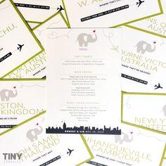 A special menu design for a special wedding. #wedding #menu #menudesign #print #designinspiration #design #tinyrebels #tinyrebellions