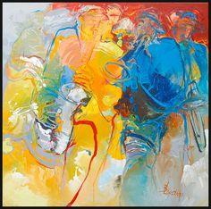 Bernadette Leijdekkers   Muziek music, art, modern, painting