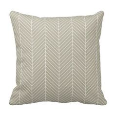 Stylish Herringbone Chevrons Pattern in Beige Pillow  Save 15% on all pillow orders! LAST DAY Use Code: ZAZTAXSAVING