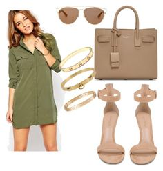 """""""Untitled #180"""" by lillylilit on Polyvore featuring Vero Moda, Gianvito Rossi, Yves Saint Laurent, Christian Dior, Cartier, Hermès, women's clothing, women, female and woman"""
