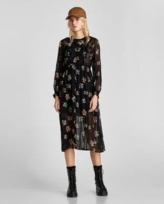 FLORAL PRINT DRESS-View All-DRESSES-WOMAN-SALE | ZARA Albania
