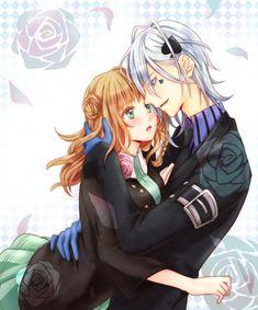 Amnesia Ikki and heroine. Ikki Amnesia, Amnesia Characters, Amnesia Memories, Animes To Watch, Romantic Anime Couples, Fandom, Romance And Love, Couple Cartoon, Lucky Girl
