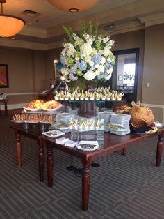 Wedding food & floral arrangement