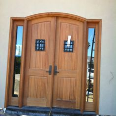 Archtop door by TM Cobb installed by Old Town Glass on a project in Tiburon, CA