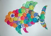 Jolly - online spielen, malen, basteln - Malen & Basteln - Malideen - Wattepad-Fisch