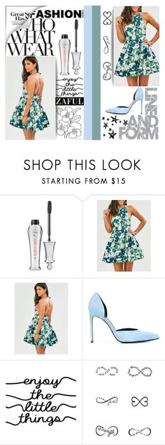 """""""#WhoWhatWear"""" by juromi ❤ liked on Polyvore featuring Benefit, Yves Saint Laurent, WALL, Tattify and Who What Wear"""