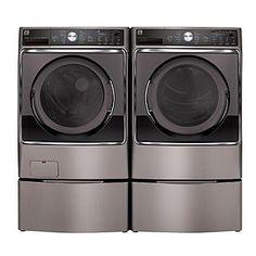Kenmore Elite -5.1 cu. ft. Front-Load Washer/Dryer- Metallic Silver ENERGY STAR