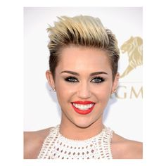 Miley Cyrus Hair and Makeup at Billboard Awards 2013 ❤ liked on Polyvore featuring makeup, hair, people and models