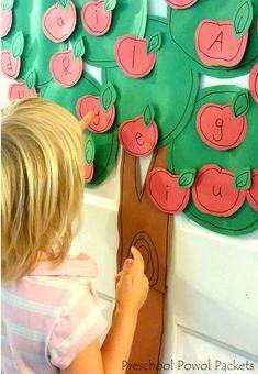 Magnetic Names Apple Picking & Ten Apples Up On Top Activities | Preschool…