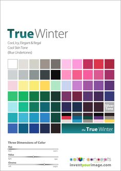 Colors for a True Winter Man www.inventyourimage.com