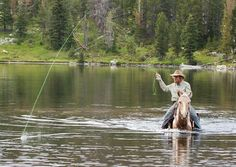 Fly fishing the cow boy way.