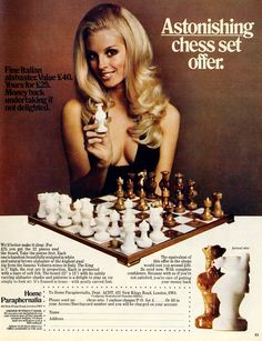 Vintage Adverts: Sex Sells....Chess?