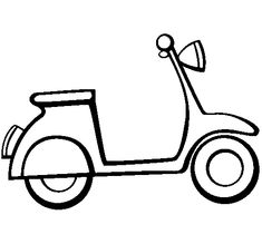 Coloring page Vespa to color online - Coloringcrew. Easy Drawings For Kids, Drawing For Kids, Painting For Kids, Line Drawing, Printable Coloring Pages, Colouring Pages, Eduardo E Monica, Drawing Templates, Wood Burning Patterns