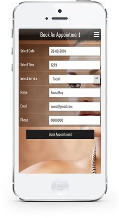 the #BeautySalonApp as it would look and feel on your customer's mobiles.  Crisp, Elegant and User Friendly mobile app design makes it easier for your customers to navigate and review.