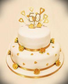2 Tier 50th Wedding Anniversary Cakes » Cake Design Ideas
