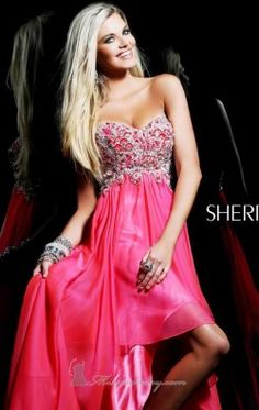 Strapless Beaded Dress by Sherri Hill 3869