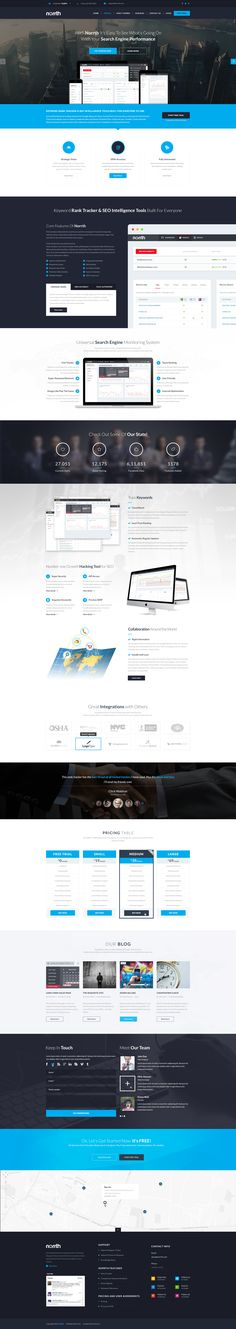 Norrth is a SAAS (Software As A Service) website. I'm very excited to share the design with you.