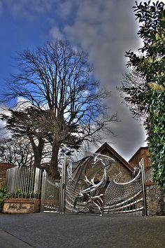 Dragon Gates, Harlech House, Dublin - HDR by leefur23, via Flickr