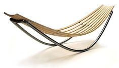 A synthesis of a lounge and a hammock, this Smile Lounge, designed by David Trubridge. The piece is made to rock just slightly and to adjust depending upon the positioning of your weight. Like all of Trubridge's work, Smile is made in New Zealand using Salon Furniture, Furniture Plans, Kids Furniture, Furniture Design, Furniture Decor, Furniture Market, Furniture Assembly, Furniture Hardware, Furniture Projects