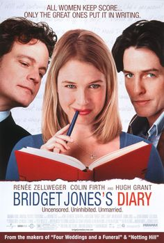 Bridget Jones's Diary (2001) - starring Colin Firth, Renee Zellweger & Hugh Grant - story based on Jane Austen's Pride & Prejudice