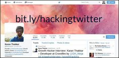 From 300 to 5,000 Twitter Followers in Three Weeks : An interview with a growth hacker Twitter Followers, Growth Hacking, Business Website, Lead Generation, 3 Weeks, Interview, Messages, Marketing, Blog