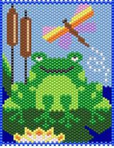 WELCOME TO MY PAD~LARGE PONY BEAD BANNER PATTERN ONLY