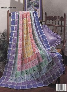 Quilt Afghans 2. Leisure Arts Extra Easy Instructions Crochet
