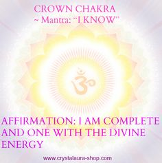 Crown Chakra Mantra - I Know - Tap the pin if you love super heroes too! Cause guess what? you will LOVE these super hero fitness shirts! Chakra Mantra, Chakra Healing, Ayurveda, Chakras, Chakra Affirmations, Mudras, Chakra System, Spiritual Wellness, Spiritual Growth