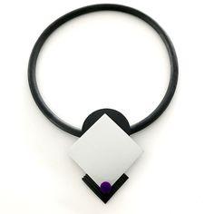 Halsband, gummi, aluminium, gummismycke Necklace, rubber, rubber jewelry, lagenlook