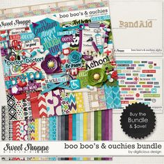 Boo Boo's & Ouchies Bundle by Digilicious Design