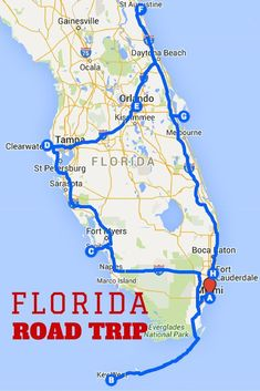 Uncover the Perfect Florida Road Trip: This post includes maps, destination guides and a downloadable spreadsheet that you can customize. #roadtripdestinations