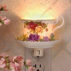 Tea cup night light