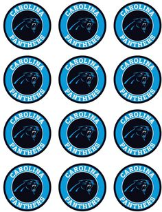 1 sheet of 'Team' Football logos on edible frosting paper. Each image is about round, good for cupcakes or chocolate covered oreos. There are 12 images on Carolina Panthers Cake, Carolina Panthers Football, 13th Birthday, Birthday Ideas, Batgirl Party, Cake Supplies, Football Birthday, 12 Image, Chocolate Covered Oreos