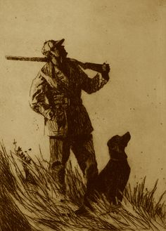 out of range- Etching by Brett J Smith Hunting Painting, Hunting Art, Hunting Dogs, Duck Hunting Tattoos, Hunting Drawings, Wildlife Paintings, Dog Paintings, Wildlife Art, Cowboy Pictures