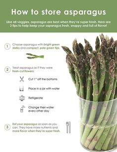 So lagern Sie Spargel - Infografik Food & Style Cooking Tips, Cooking Recipes, Healthy Recipes, Food Tips, Keto Recipes, How To Store Asparagus, Freezing Asparagus, Asparagus Recipe, Gastronomia